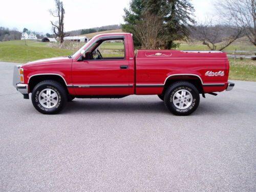 1988 Chevrolet Silverado 1500 Red Pickup Truck Old Trucks For