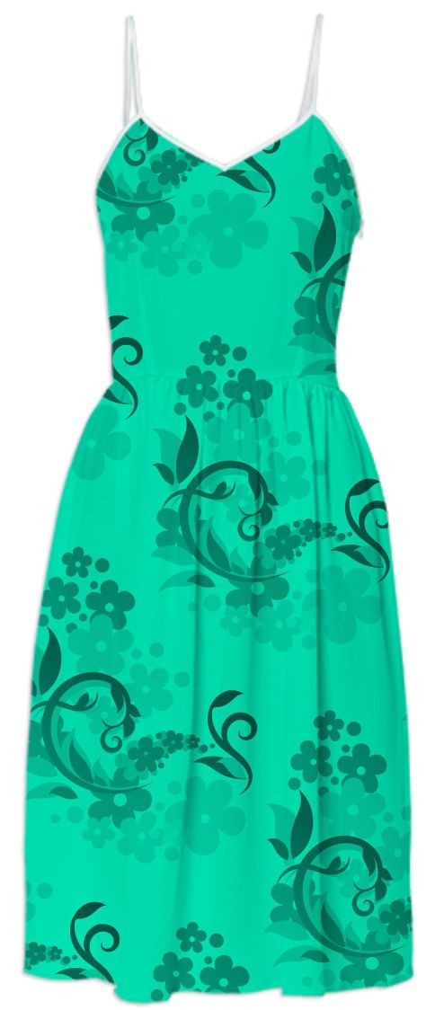Flourish Pattern Green from Print All Over Me
