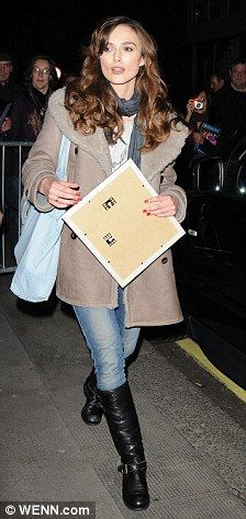 The actress  signs autographs as she leaves the theatre last night