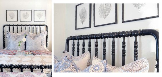 spindle-y bed, beautiful linens