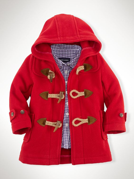 Wool Toggle Coat - Outerwear & Jackets Infant Girl (9M–24M ...