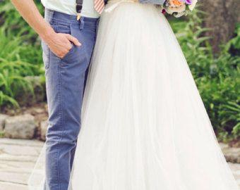 Robe de mariée maxi tulle Tutu blanc maxi jupon par Fanfaronada