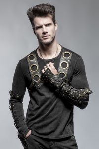 steampunk shirt mit rmeln im armstulpen look steampunk kleidung herren pinterest shirts. Black Bedroom Furniture Sets. Home Design Ideas