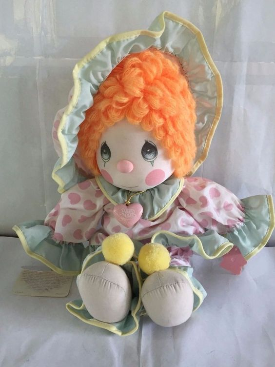 PRECIOUS MOMENTS PLUSH DOLL TOY PEGGY WITH TAG CLOWN APPLAUSE #PreciousMoments #Dolls