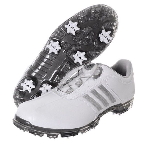 mens white adidas golf shoes