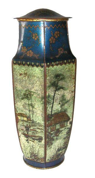 Carrs Vase c1935 biscuit tin