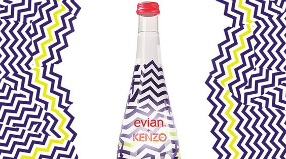 Evian+Kenzo Limited Edition Water — The Dieline