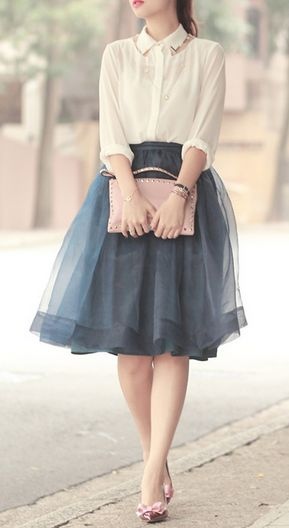 Pretty organza tulle skirt | buy it: http://rstyle.me/n/hmnydsque