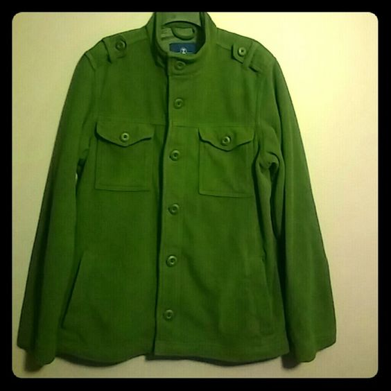 OLD NAVY Jacket coat~ Mens/ Olive Green Fleece/ 6 pockets/ Very gently worn Old Navy Jackets & Coats