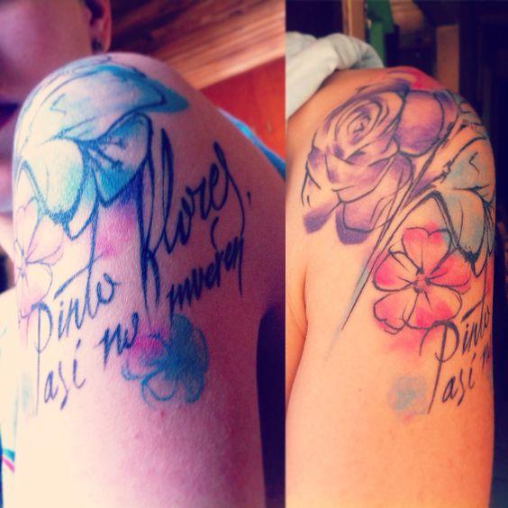 Marquitas en la piel #frida #tattoo #kahlo #flowers