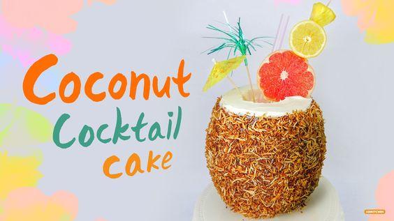 How to Make Coconut Cocktail Cake! - Ari Kitchen