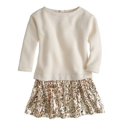 J.Crew - Girls' sequin-skirt sweatshirt dress | Child Style ...