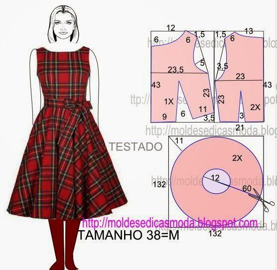 Moldes Moda por Medida: VESTIDO FÁCIL DE FAZER - 46: