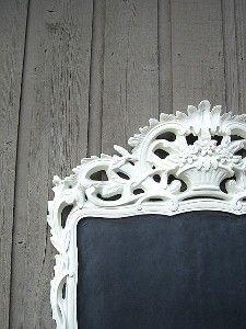 An ornate chalkboard?