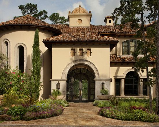 Mediterranean stucco with tile roof homes for Mediterranean roof styles