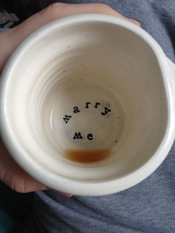 Wonderful proposal idea for a lady who loves a cup of Joe! #wedding #proposal #propose #marryme