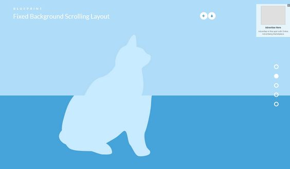 Parallax  Scrolling layout jQuery Pinterest - best of blueprint fixed background scrolling layout
