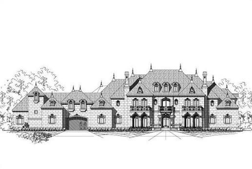 French Home Plan 8 Bedrms 7 5 Baths 11877 Sq Ft 156 2307 Monster House Plans House Plans Luxury House Plans