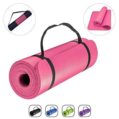 Romix Tapis De Gym 15mm Epais Haute Densite Antiderapant Ecologique Gymnastique Yoga Mat Premium Leger No Accessoires De Yoga Tapis De Gymnastique Tapis De Gym