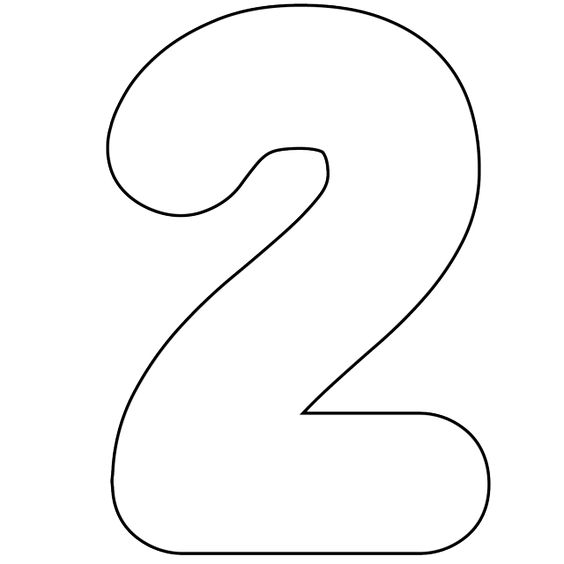 ... To Use Our Free Printable Numbers Digital Stamps: Printable Number 2