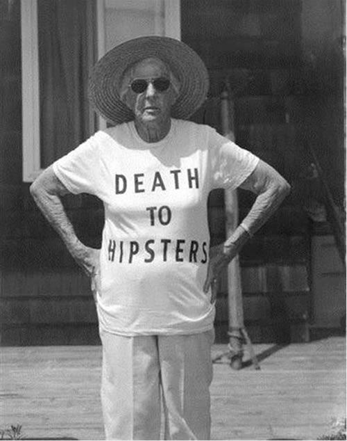 Death to Hipster granny hates hipster before it was cool. But doesn't that make her the ultimate hipster?