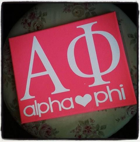 Make it Personal canvas-Alpha Phi:)