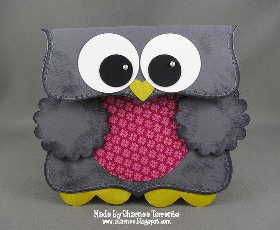addINKtive designs: Sharnee's Owl Card/Gift Bag