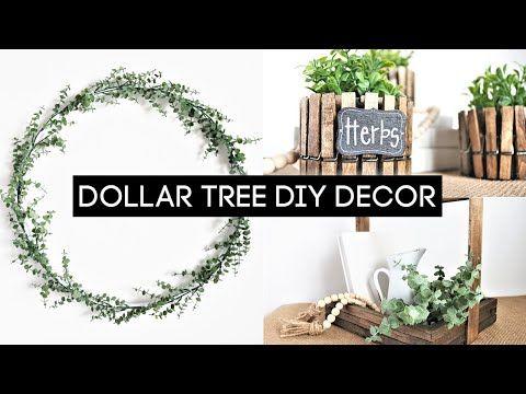 Easy Diy Home Decor Dollar Tree Diy Farmhouse Decor You Have To Try Youtube Dollar Tree Diy Diy Farmhouse Decor Farmhouse Decor