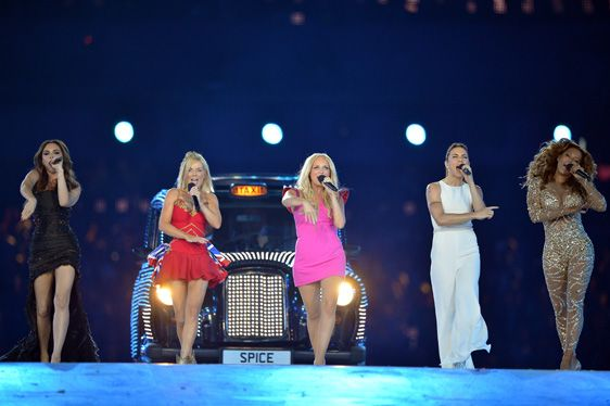 Spice Girls at the Olympic Closing Ceremony