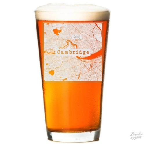 Cambridge Etched Map Beer Glass Show Your College Town Pride By Enjoying Your Favorite Craft Beer In One Of Bourbon Unique Graduation Gifts Bourbon Craft Beer