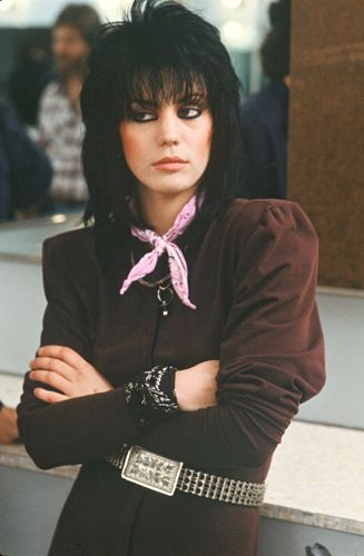 Joan Jett-OMG! I remember wearing bandanas like that in 5th grade (1982-83.) I also recall getting my ass kicked by the popular bitches who thought I shouldn't be tryin to copy them. Whatever!: