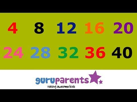 Skip Counting by 4s Song - YouTube | Math ideas | Pinterest ...