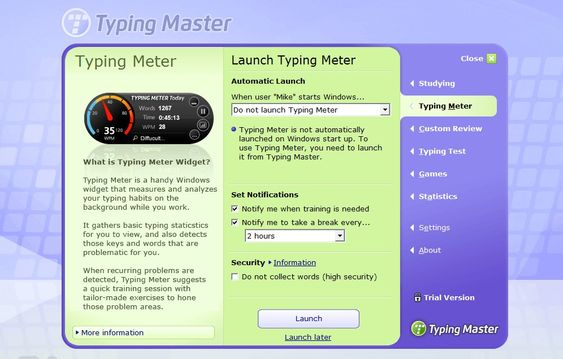TypingMaster Screenshot