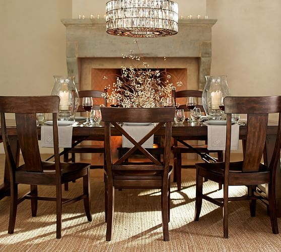 Dream dining set Benchwright Extending Table and Set of 6 Aaron – Aaron Chairs