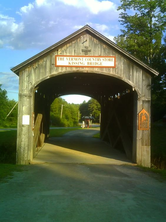 Take a stroll through The Kissing Bridge with someone you love at our store in Rockingham, VT and find out how it got its name.