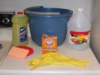 How to Clean Walls. 1cup ea vinegar+ 1/4 cup baking soda. 2ea sponge+dry towels