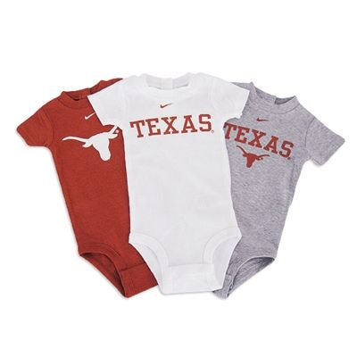 Texas Longhorns Infant Nike 3 Pack Creeper Set