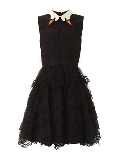 REDValentino Swan collar scallop-lace dress - A classier version of Bjork's swan dress