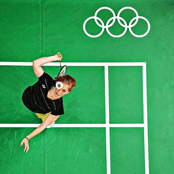 #Badminton practice at the #Rio2016 #Olympic Games - Photo by Bob Martin…