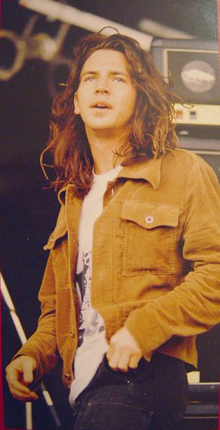 Eddie Vedder, an American musician and singer-songwriter who is best known for being the lead singer and one of three guitarists of the alternative rock band Pearl Jam. Known for his powerful vocals, he is widely considered an icon of alternative rock.