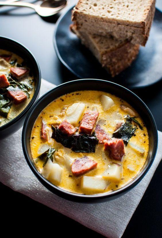 Chorizo White Bean and Potato Soup