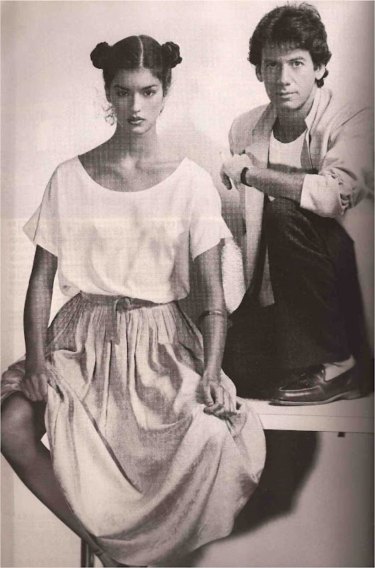 Janice Dickinson and Calvin Klein . Vogue Paris . 1977