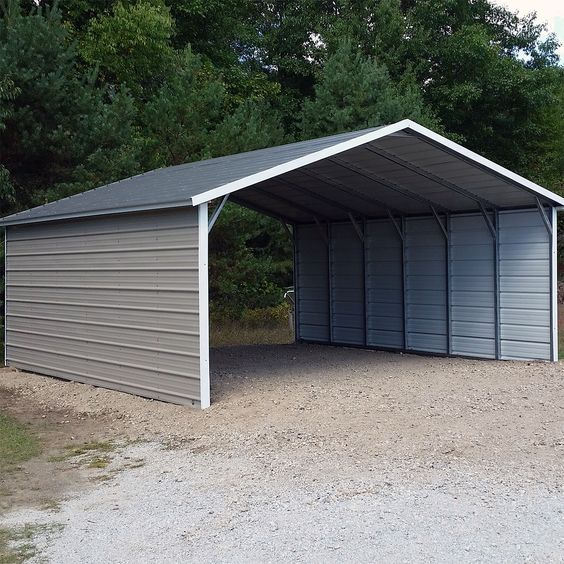 18x21x7 Carport A Frame Enclosed Sides Steel Carports Metal Carports Diy Carport