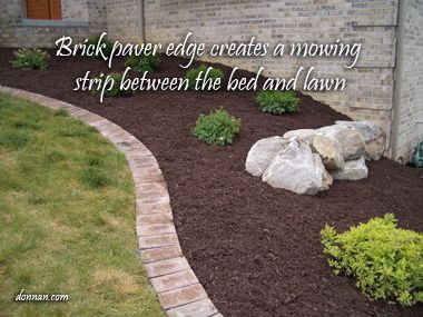 Brick Paver Flower Bed Edging