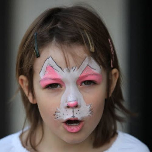 Cat face paints glitter cr atif chats et lapins - Maquillage simple enfant ...