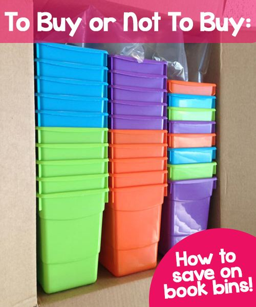 To Buy or Not To Buy: How to save on plastic book bins for your classroom library