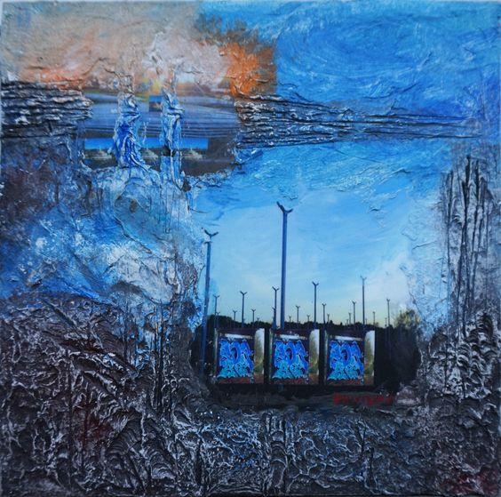 Bas reliefs  avec  cellulose ,  photographie numérique .Tags et rehauts de peinture.  Les tags sont présents dans la forêt Notre Dame à la Queue en Brie