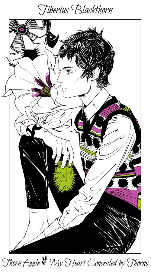 Tiberius Blackthorn - Thorn Apple (My Heart Concealed by Thorns): Cassandra Jean: Shadowhunter Flowers Series: *Character belongs to Author Cassandra Clare and her Dark Artifices series