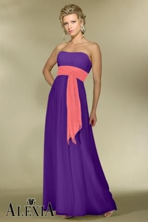 Chiffon A-line,Band,Strapless Style 2976 Bridesmaid Dress by Alexia Designs