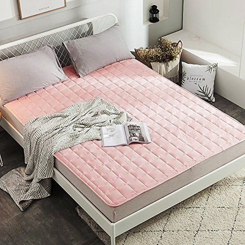 Lightweight Mattress Topper Single Double Bed Mattress Tatami Mattress Bedroom Dormitory Removable Cover Mattress Pad Pink 150x220cm 59x87i Mattress Pad Bed Mattress Mattress
